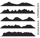 mountains silhouettes on the... | Shutterstock .eps vector #1296901204
