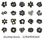 flowers set. collection of... | Shutterstock .eps vector #1296904264