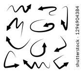 curve arrow signs | Shutterstock .eps vector #1296904384