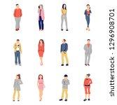 illustration of group of men... | Shutterstock .eps vector #1296908701