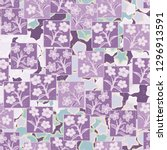 seamless pattern made up of...   Shutterstock .eps vector #1296913591