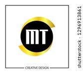 initial mt letter logo template ... | Shutterstock .eps vector #1296913861