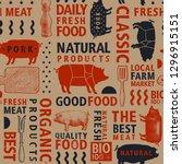 typographic vector butchery... | Shutterstock .eps vector #1296915151