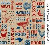 typographic vector butchery... | Shutterstock .eps vector #1296915154