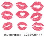 Lipstick Kiss Print Isolated...