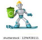 robot   3d illustration   Shutterstock . vector #1296928111
