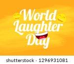 illustration of  world laughter ... | Shutterstock .eps vector #1296931081