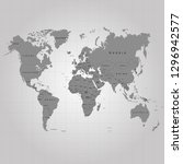the earth  world map on gray... | Shutterstock .eps vector #1296942577