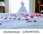 wedding for honeymoon sweet... | Shutterstock . vector #1296957691