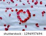 wedding for honeymoon sweet... | Shutterstock . vector #1296957694