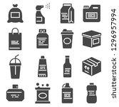 packaging  icons set. for... | Shutterstock .eps vector #1296957994