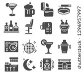 bar gray icons set. cocktail ... | Shutterstock .eps vector #1296957997