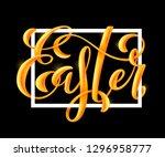 happy easter poster | Shutterstock . vector #1296958777
