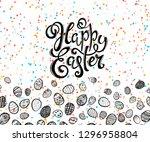 happy easter poster | Shutterstock . vector #1296958804