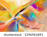 abstract colorful oil  acrylic... | Shutterstock . vector #1296961891