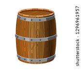barrel wooden with metal...   Shutterstock .eps vector #1296961957