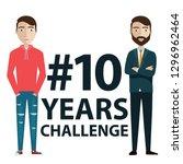 hashtag 10 years challenge... | Shutterstock .eps vector #1296962464