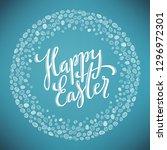 happy easter poster | Shutterstock . vector #1296972301