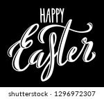 happy easter poster | Shutterstock . vector #1296972307