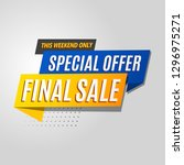 final sale banner modern... | Shutterstock .eps vector #1296975271