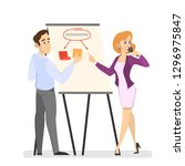 business team making... | Shutterstock .eps vector #1296975847