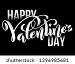 happy valentines day card.... | Shutterstock .eps vector #1296985681