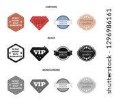 money back guarantee  vip ... | Shutterstock . vector #1296986161