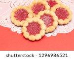 jam biscuits. macro with...   Shutterstock . vector #1296986521