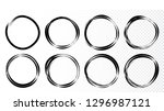 hand drawn circles sketch frame ...   Shutterstock .eps vector #1296987121