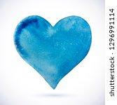 vector watercolor heart.... | Shutterstock .eps vector #1296991114