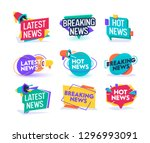 hot latest news daily update... | Shutterstock .eps vector #1296993091