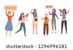 women feminism character group... | Shutterstock .eps vector #1296996181