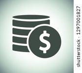 vector icon coin | Shutterstock .eps vector #1297001827