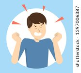 angry man. bad emotion and... | Shutterstock .eps vector #1297006387