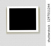 realistic empty photo frame... | Shutterstock .eps vector #1297011244