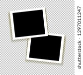 realistic empty photo frame... | Shutterstock .eps vector #1297011247