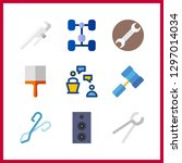 9 workshop icon. vector... | Shutterstock .eps vector #1297014034
