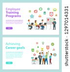 employee training programs and... | Shutterstock .eps vector #1297014331