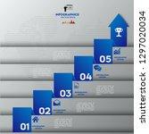 modern blue infographics 5... | Shutterstock .eps vector #1297020034