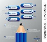 blue modern infographic vector... | Shutterstock .eps vector #1297020037