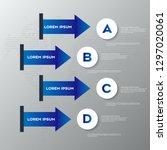 business infographics design... | Shutterstock .eps vector #1297020061