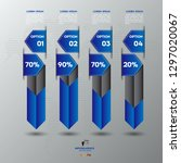 business infographics design... | Shutterstock .eps vector #1297020067