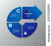 modern blue infographics... | Shutterstock .eps vector #1297020091