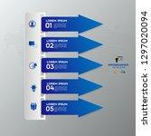 modern blue infographics 5... | Shutterstock .eps vector #1297020094