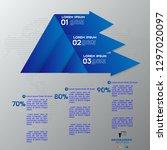 modern blue infographics 3... | Shutterstock .eps vector #1297020097