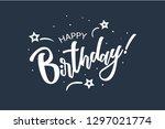 happy birthday card. beautiful... | Shutterstock .eps vector #1297021774