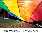 poland  gay pride  rainbow... | Shutterstock . vector #129702584
