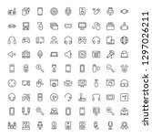 vr game icon set. collection of ...   Shutterstock .eps vector #1297026211