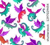 seamless pattern of vector... | Shutterstock .eps vector #1297029454
