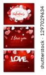 set of horizontal valentines... | Shutterstock .eps vector #1297029634